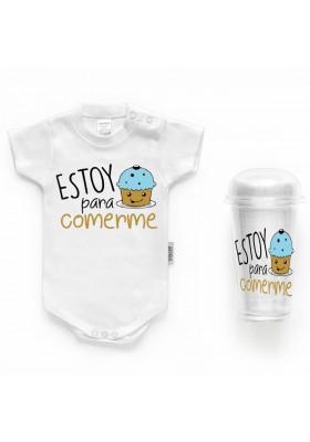 """BODYS BEBÉ PERSONALIZADOS - Body bebé personalizado FRASE """"Estoy para comerme"""""""