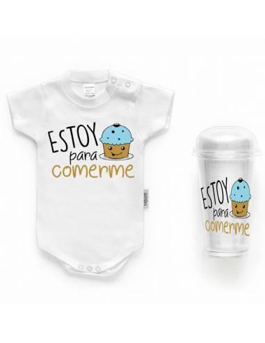 """Body bebé personalizado FRASE """"Estoy para comerme"""" - Bodys bebé personalizados"""