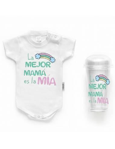 """Body bebé personalizado FRASE """"La mejor mamá es la mía"""" - Bodys bebé personalizados"""