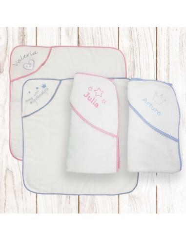 Capa de baño ROSA personalizada con nombre - Inicio