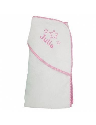 Capa de baño ROSA personalizada con nombre