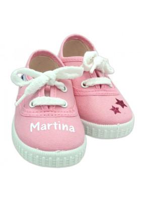 Inicio - Zapatillas bebé ROSAS personalizadas con el nombre