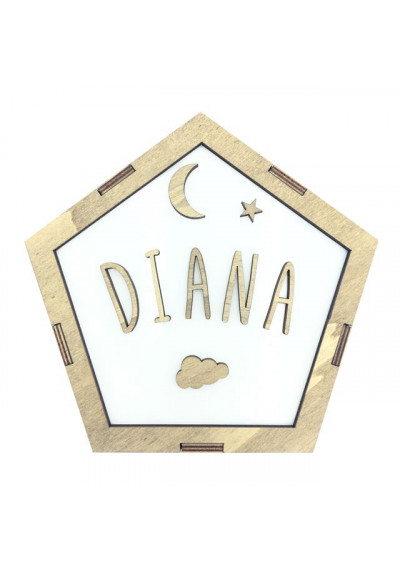 Lámpara estrella decorativa personalizada con nombre