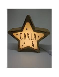 Lámpara MÚSICA decorativa estrella personalizada con nombre