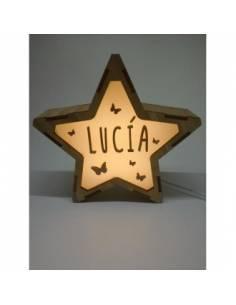 Lámpara MARIPOSAS decorativa estrella personalizada con nombre