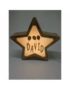 Lámpara GLOBOS decorativa estrella personalizada con nombre