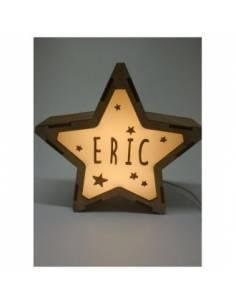 Lámpara NOCHE decorativa estrella personalizada con nombre