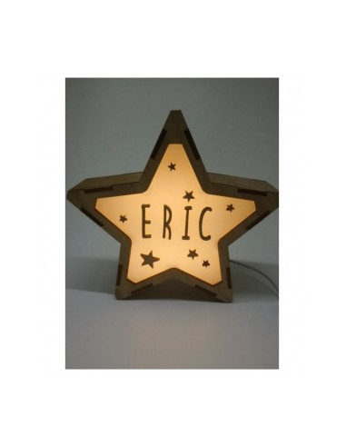 Lámpara NOCHE decorativa estrella personalizada con nombre - Lámparas infantiles personalizadas