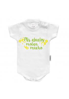 """BODYS BEBÉ PERSONALIZADOS - Body bebé personalizado FRASE """"Mis abuelos molan mucho"""""""