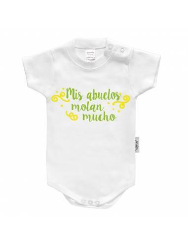 """Body bebé personalizado FRASE """"Mis abuelos molan mucho"""" - Bodys bebé personalizados"""