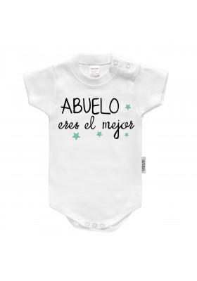 """BODYS BEBÉ PERSONALIZADOS - Body bebé personalizado FRASE """"Abuelo eres el mejor"""""""