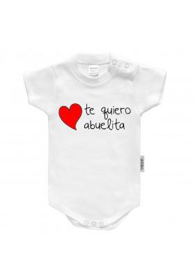 """BODYS BEBÉ PERSONALIZADOS - Body bebé personalizado FRASE """"Te quiero abuelita"""""""