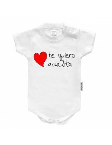 """Body bebé personalizado FRASE """"Te quiero abuelita"""" - Bodys bebé personalizados"""