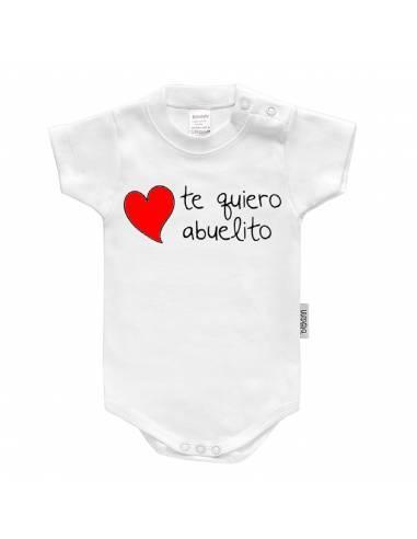 """Body bebé personalizado FRASE """"Te quiero abuelito"""" - Bodys bebé personalizados"""