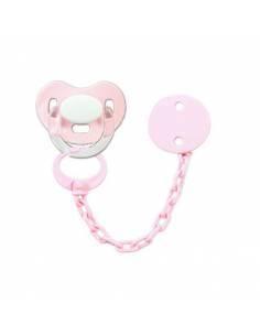 Pack Chupete y chupetero Personalizado rosa