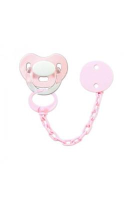 Pack Chupete y Sujetachupete Personalizado rosa