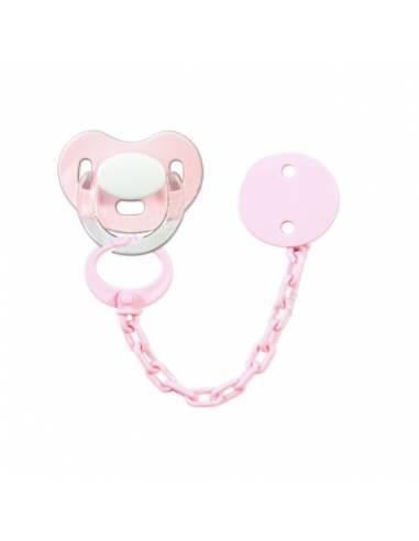 Pack Chupete y chupetero Personalizado rosa - Conjuntos Personalizados con chupetes