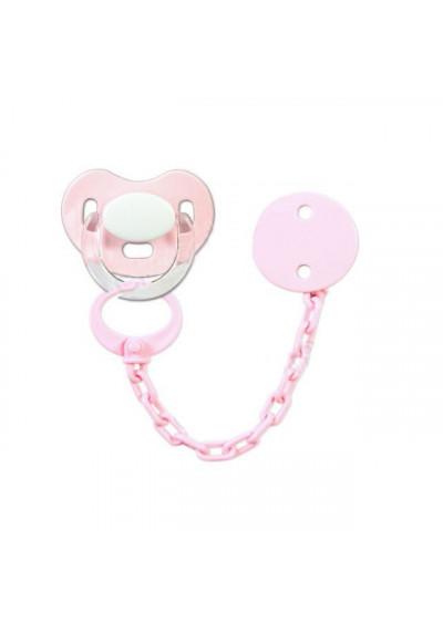 Conjuntos Personalizados con chupetes - Pack Chupete y chupetero Personalizado rosa