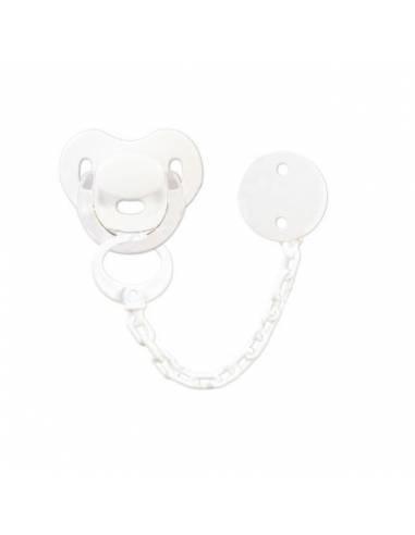 Pack Chupete y chupetero Personalizado blanco - Conjuntos Personalizados con chupetes