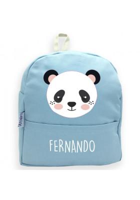 Mochilas personalizadas para bebés - Mochila guardería personalizada PANDA