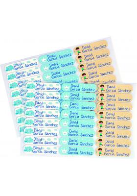 Etiquetas textiles con nombre 48 unidades