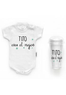 """BODYS BEBÉ PERSONALIZADOS - Body bebé personalizado FRASE """"TITO eres el mejor"""""""