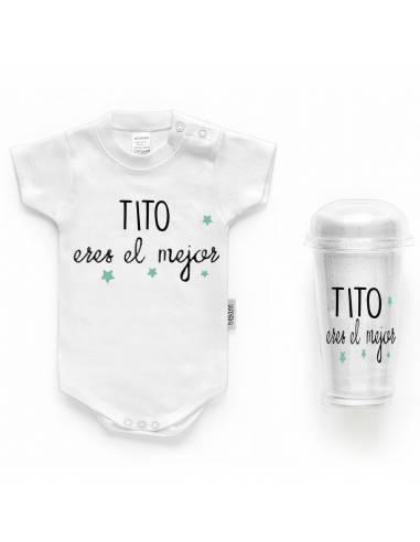 """Body bebé personalizado FRASE """"TITO eres el mejor"""" - Bodys bebé personalizados"""