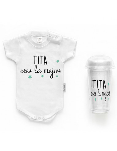 """Body bebé personalizado FRASE """"TITa eres la mejorr"""" - Bodys bebé personalizados"""