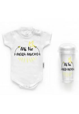 """BODYS BEBÉ PERSONALIZADOS - Body bebé personalizado FRASE """"Mi tío mola mucho"""""""