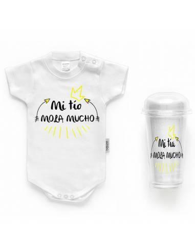 """Body bebé personalizado FRASE """"Mi tío mola mucho"""" - Bodys bebé personalizados"""