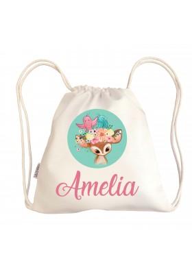 Bolsas personalizadas de guardería - Mini talega bebé personalizada BAMBI