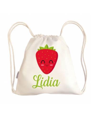 Mini talega bebé personalizada FRESA - Talegas bebé personalizadas