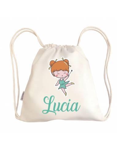 Mini talega bebé personalizada HADA - Talegas bebé personalizadas