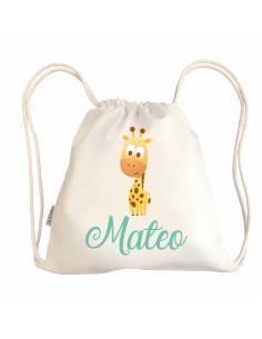 Mini talega bebé personalizada JIRAFA