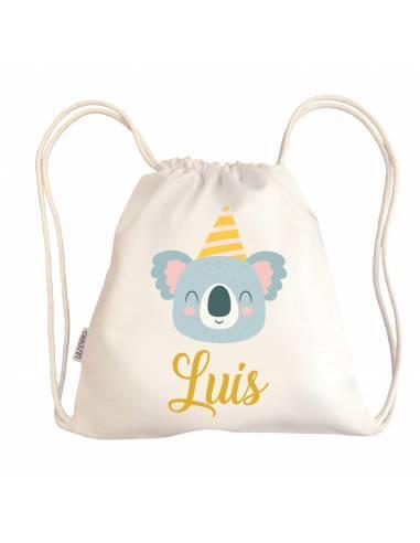 Mini talega bebé personalizada KOALA - Talega bebé personalizada con asas