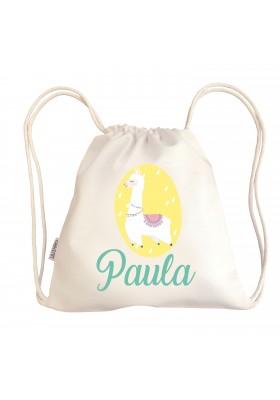 TALEGAS BEBÉ PERSONALIZADAS - Mini talega bebé personalizada LLAMA