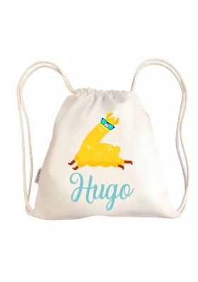 TALEGAS BEBÉ PERSONALIZADAS - Mini talega bebé personalizada LLAMA GAFAS