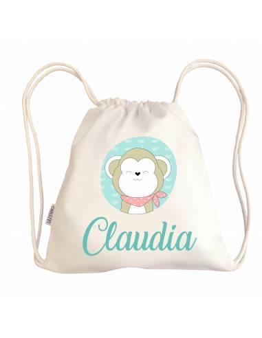 Mini talega bebé personalizada MONO - Talega bebé personalizada con asas