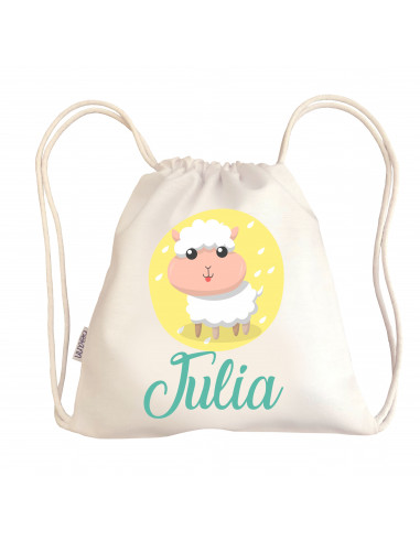 Mini talega bebé personalizada OVEJA - Talegas bebé personalizadas