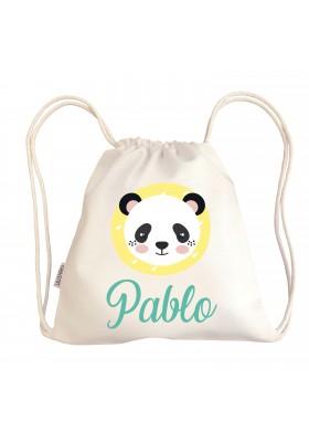 TALEGAS BEBÉ PERSONALIZADAS - Mini talega bebé personalizada PANDA