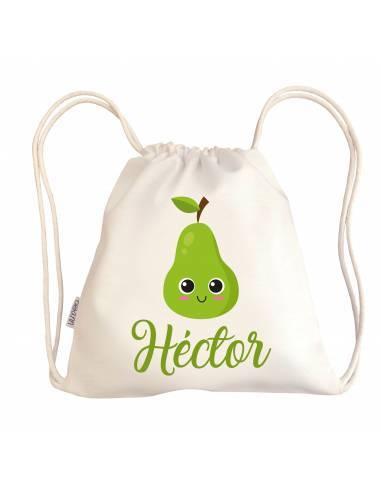Mini talega bebé personalizada PERA - Talegas bebé personalizadas