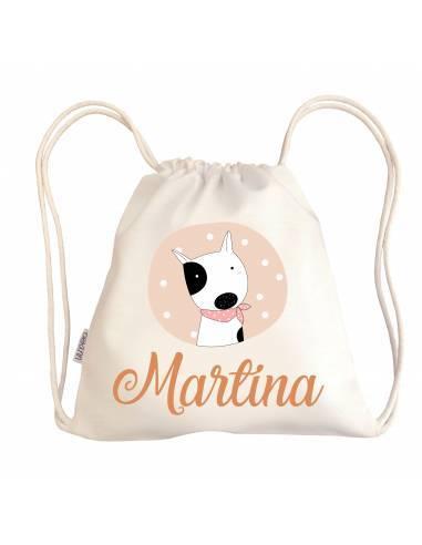 Mini talega bebé personalizada PERRO PAÑUELO - Talegas bebé personalizadas