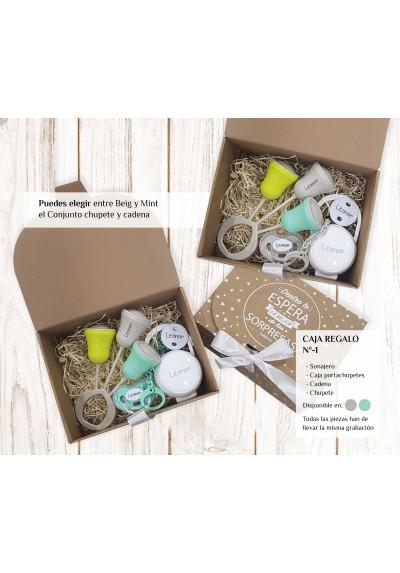 Cajas regalo para bebés personalizadas - Caja regalo recién nacido personalizada Nº1