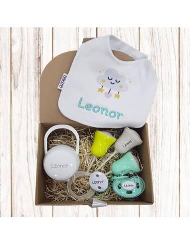 Nueva caja regalo personalizada Nº2 de 6 a 36 meses - Cajas regalo para bebés personalizadas