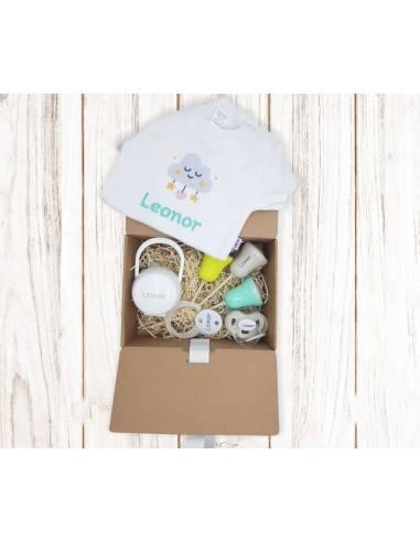 Nueva caja regalo BODY BEBÉ personalizada Nº3 de 6 a 36 meses - Cajas regalo para bebés personalizadas