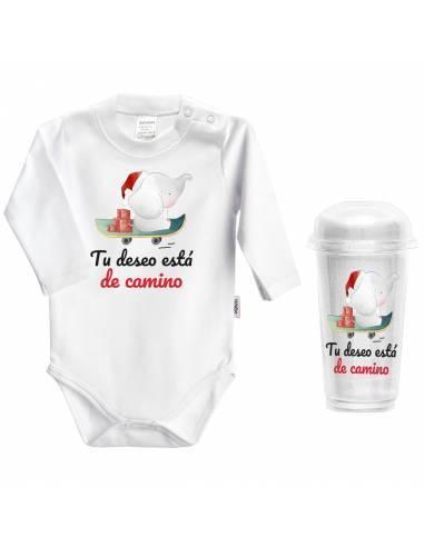 """Body bebé NAVIDAD """"Tu deseo está de camino"""" - Bodys bebé personalizados"""