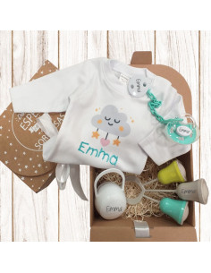 Nueva caja regalo BODY BEBÉ personalizada Nº3 de 6 a 36 meses