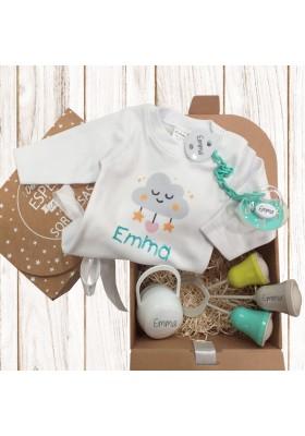 CAJA REGALO - Nueva caja regalo BODY BEBÉ personalizada Nº3 de 6 a 36 meses