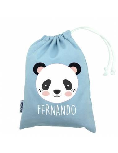 Bolsa merienda personalizada PANDA - Bolsa merienda personalizada