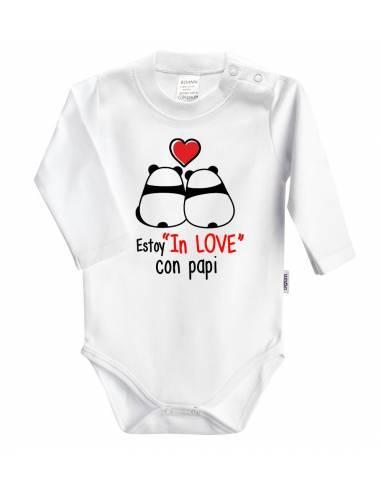 """Body bebé personalizado """"Estoy in love con papi"""" Pandas - Bodys bebé personalizados"""